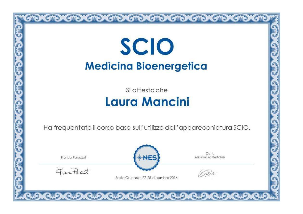 Operatore apparecchi di biorisonanza SCIO Laura Mancini Tamburini