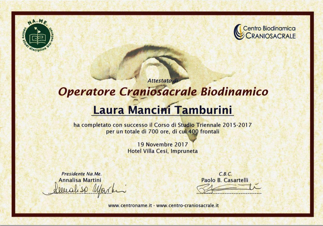 Operatore professionale biodinamica craniosacrale L. Mancini Tamburini