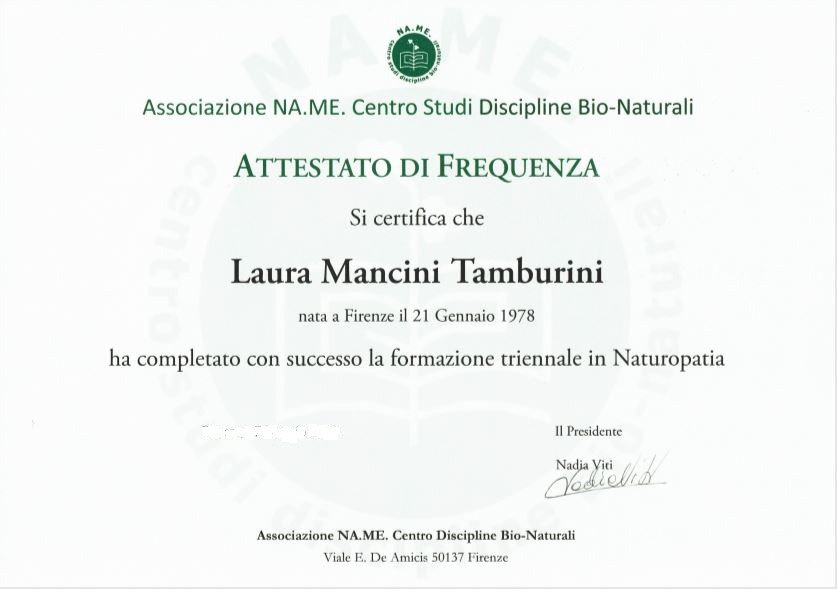 Naturopata Laura Mancini Tamburini